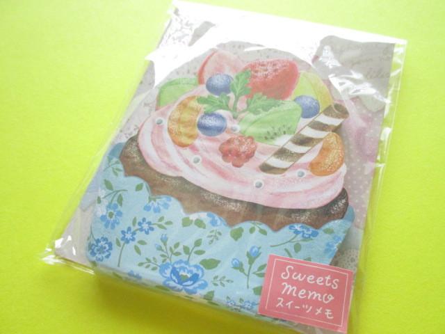 Photo1: Kawaii Cute Sweets Mini Memo Pad amifa *Flower Cupcake (Flower)