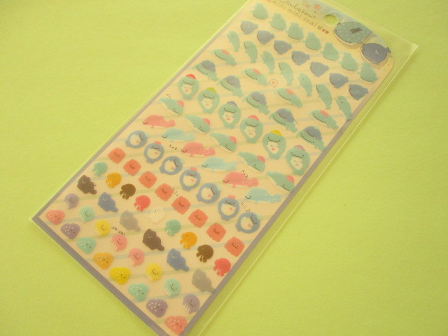 Photo1: Kawaii Cute Mini Mini Stickers Sheet San-x *Jinbesan (SE48408)
