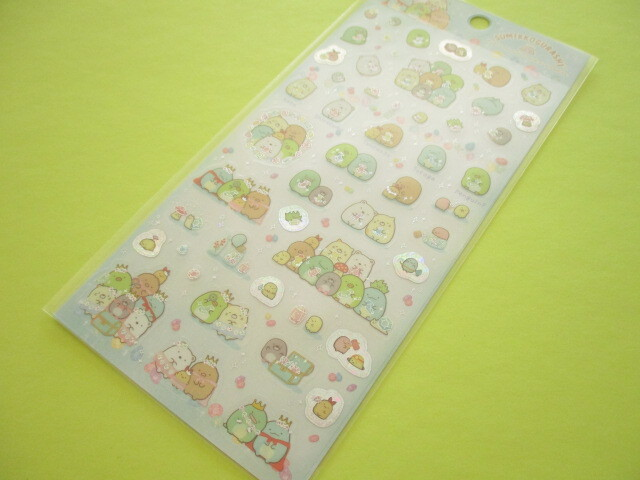 Photo1: Kawaii Cute Sticker Sheet Sumikkogurashi San-x *House of The Mole (SE49302)