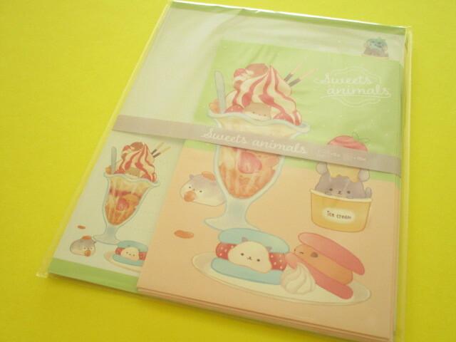 Photo1: Kawaii Cute Letter Set Kyowa *Sweets Animals (42-073 Green)