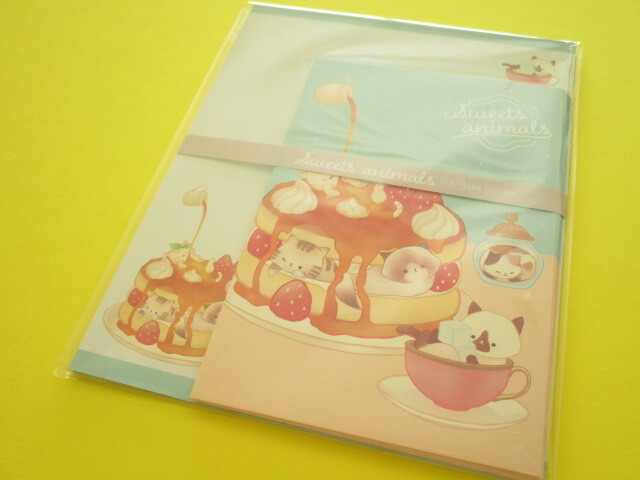 Photo1: Kawaii Cute Letter Set Kyowa *Sweets Animals (42-073 Blue)