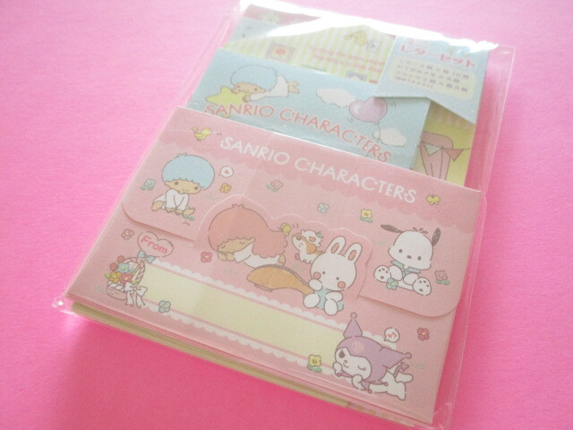 Photo1: Kawaii Cute Volume Mini Letter Set Sanrio Original *Sanrio Characters (92294-3)