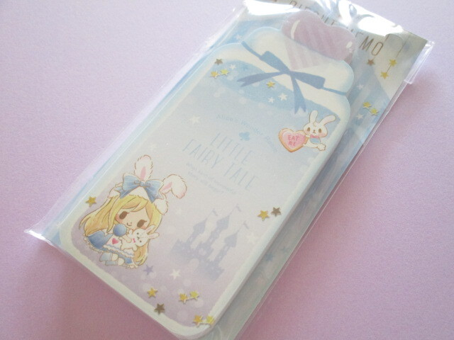Photo1: Kawaii Cute Die-Cut Memo Pad Little Fairy Tale Q-LiA *Alice (44400)
