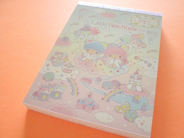 Photo1: Kawaii Cute Large Memo Pad Sanrio Original *Little Twin Stars (92306-1)