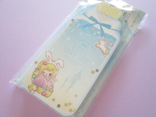 Photo1: Kawaii Cute Die-Cut Memo Pad Little Fairy Tale Q-LiA *Little Rapunzel (44397)
