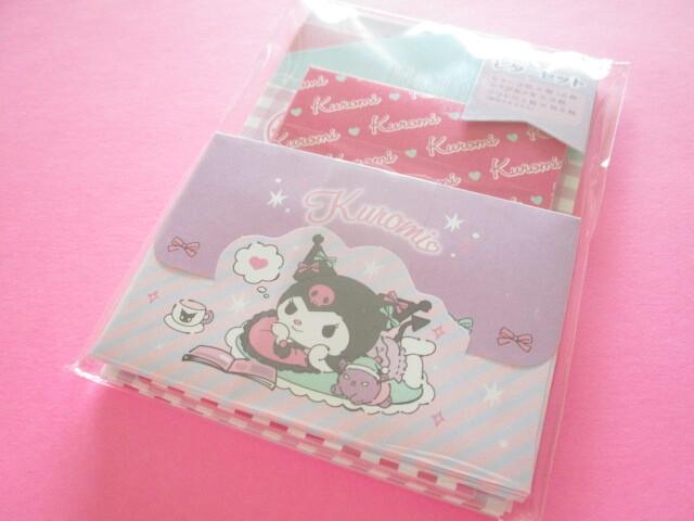 Photo1: Kawaii Cute Volume Mini Letter Set Sanrio Original *Kuromi (92287-1)