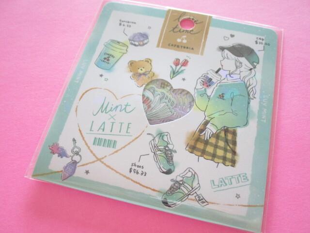 Photo1: Kawaii Cute Sticker Flakes Sack Q-LiA *Mint Latte (51040)