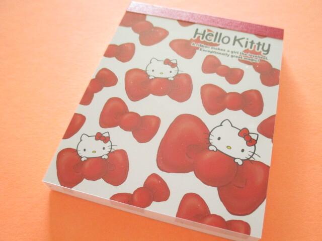 Photo1: Kawaii Cute Mini  Memo Pad Sanrio *Hello Kitty (Ribbon)