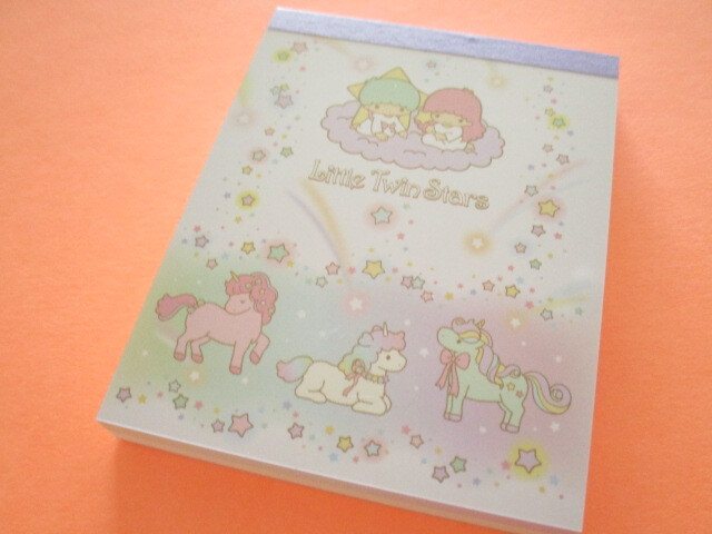 Photo1: Kawaii Cute Mini  Memo Pad Sanrio *Little Twin Stars (Unicorn)