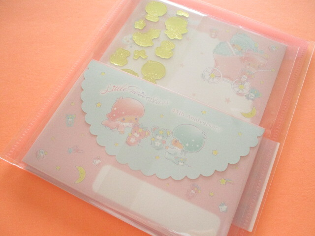 Photo1: Kawaii Cute Regular Letter Set with Clear Case 45th Anniversary Little Twin Stars Sanrio *Baby Dream (33587-8)
