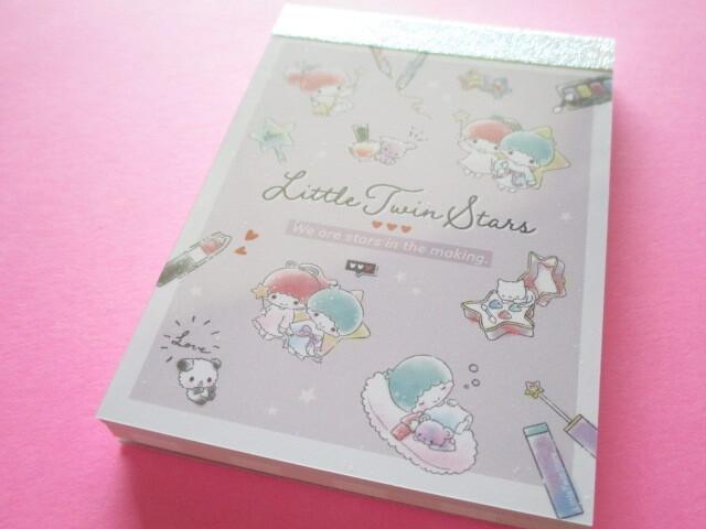 Photo1: Kawaii Cute Mini Memo Pad Little Twin Stars Sanrio *Sweets cosmetics (81995)