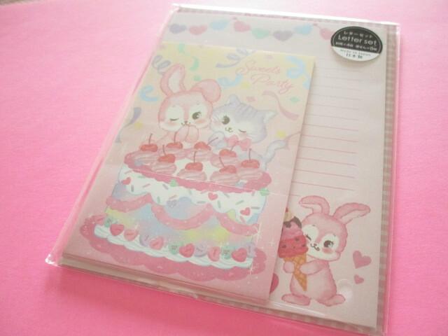 Photo1: Kawaii Cute Letter Set Gaia *Retro Fancy (466366-Sweets Party)