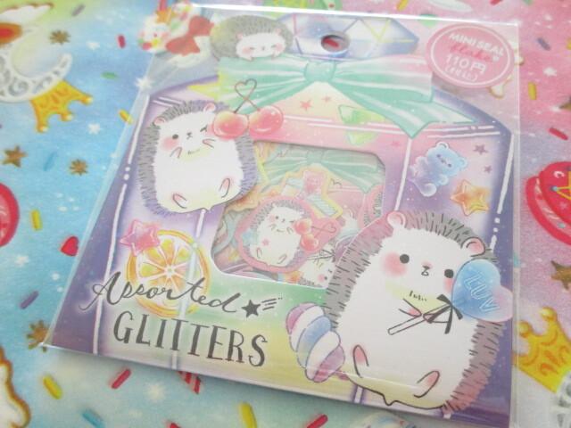Photo1: Kawaii Cute Sticker Flakes Sack Crux *Assorted Glitters (473105)
