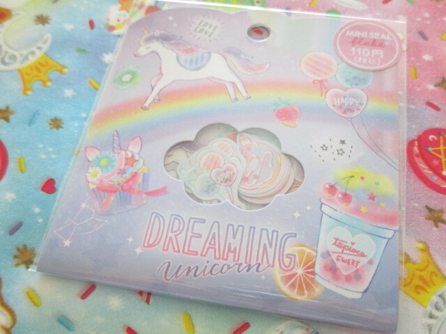 Photo1: Kawaii Cute Sticker Flakes Sack Crux *Dreaming Unicorn (473103)