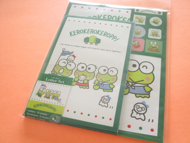 Photo1: Kawaii Cute Letter Set Sanrio *Kerokerokeroppi (3 brothers)