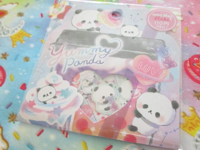 Photo1: Kawaii Cute Sticker Flakes Sack Crux *Yummy Panda (473107)