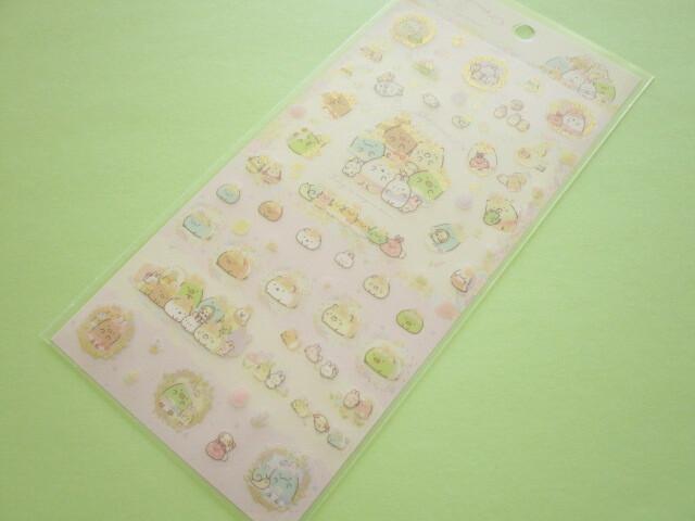 Photo1: Kawaii Cute Stickers Sheet Sumikkogurashi San-x *The Rabbit's Wonder Garden (SE49501)