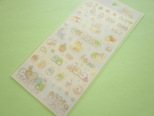 Photo1: Kawaii Cute Stickers Sheet Sumikkogurashi San-x *The Rabbit's Wonder Garden (SE49502)