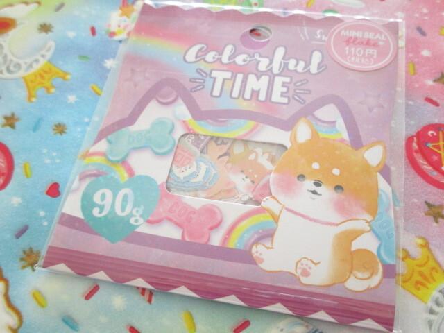 Photo1: Kawaii Cute Sticker Flakes Sack Crux *Colorful Time (473108)