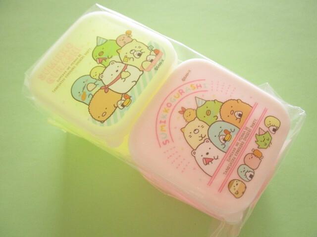 Photo1: 2pcs Kawaii Cute Sumikkogurashi Bento Lunch Box Container (KY72701)