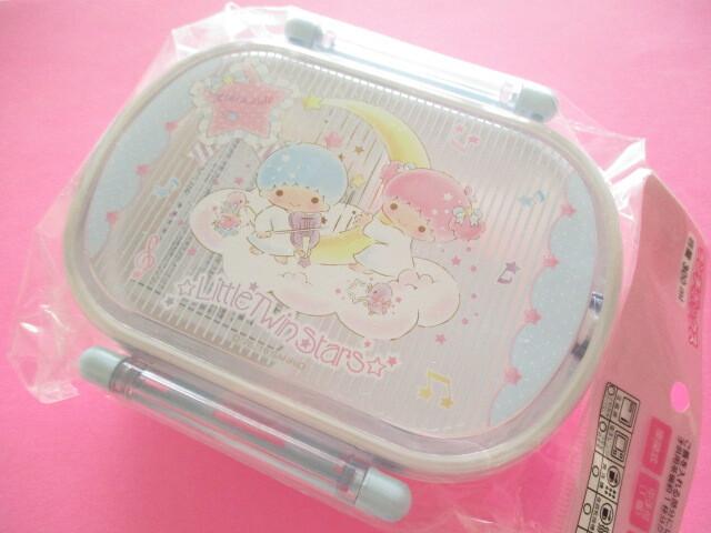 Photo1: Kawaii Cute Bento Lunch Box Set Little Twin Stars Sanrio Original *Music Notes (88240-2)