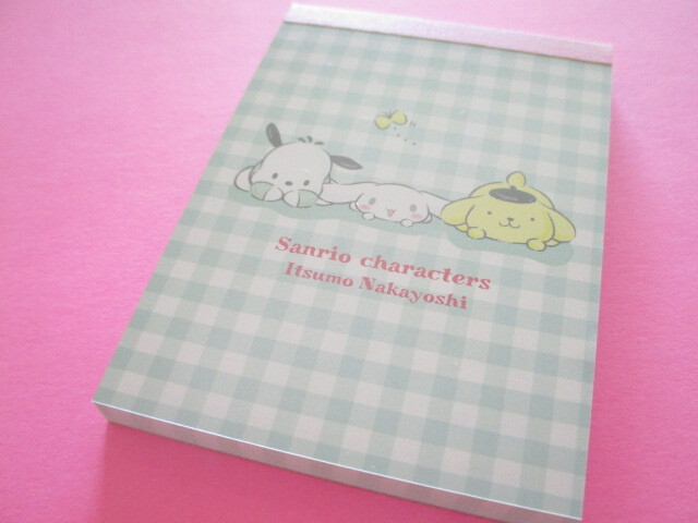 Photo1: Kawaii Cute Mini Memo Pad Sanrio Characters Sanrio *なかよし (S2830442)