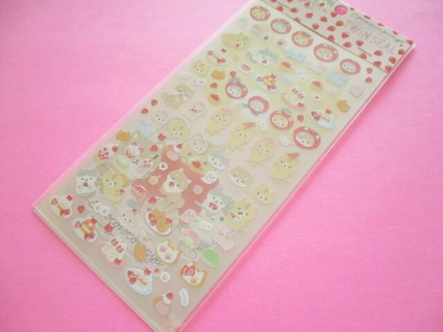 Photo1: Kawaii Cute Twin Sticker Sheets Corocorocoronya San-x *Strawberry picking with Coronya (SE49901)