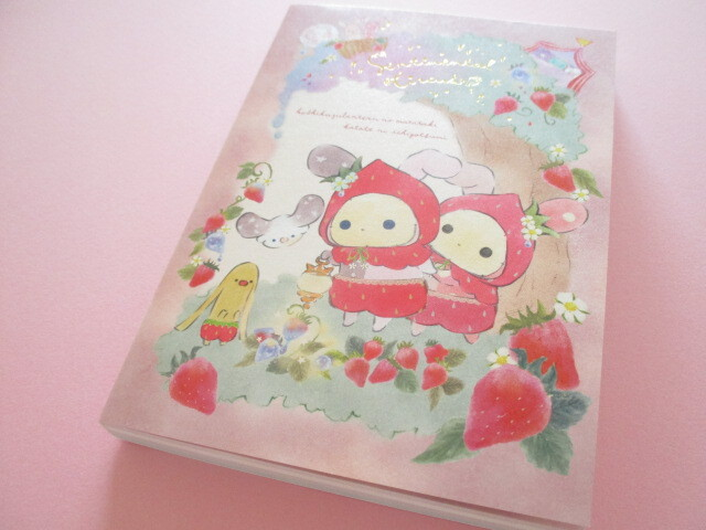 Photo1: Kawaii Cute Large Memo Pad Sentimental Circus San-x *Memories of Sweet and Sour Strawberry Tears (MH03702)
