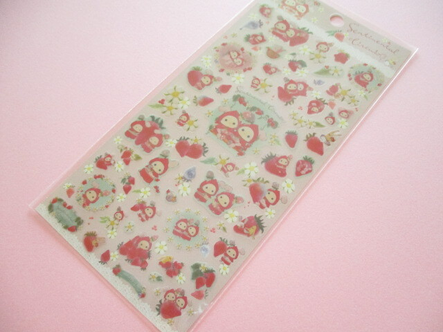 Photo1: Kawaii Cute Stickers Sheet Sentimental Circus San-x *Memories of Sweet and Sour Strawberry Tears (SE49802)