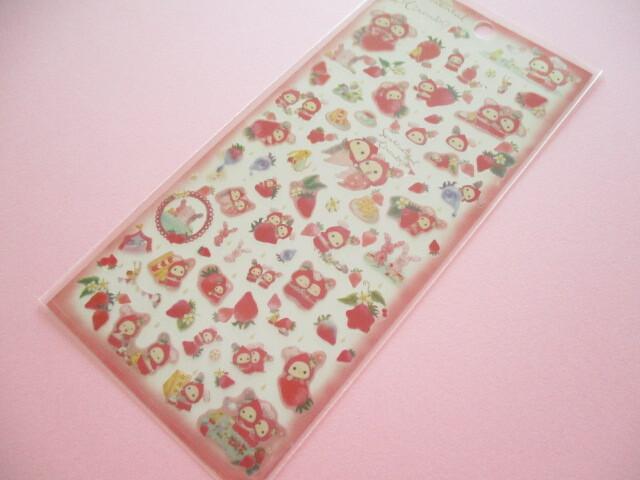 Photo1: Kawaii Cute Stickers Sheet Sentimental Circus San-x *Memories of Sweet and Sour Strawberry Tears (SE49801)