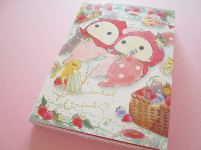 Photo1: Kawaii Cute Large Memo Pad Sentimental Circus San-x *Memories of Sweet and Sour Strawberry Tears (MH03701)