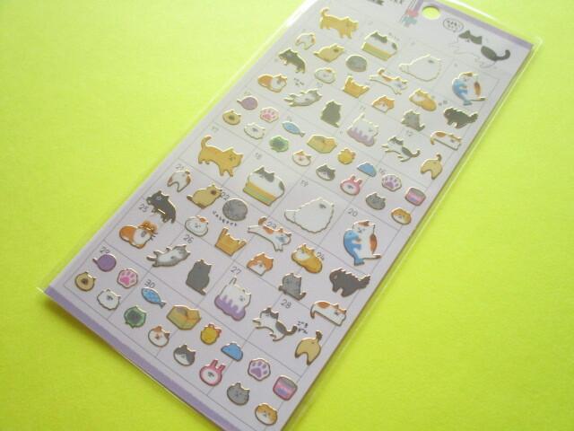 Photo1: Kawaii Cute Yurutto Mark Stickers Sheet Crux *ゆるねこライフ (73119)
