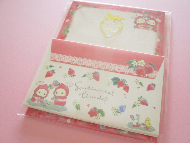 Photo1: Kawaii Cute Letter Set Sentimental Circus San-x *Memories of Sweet and Sour Strawberry Tears (LH72301)