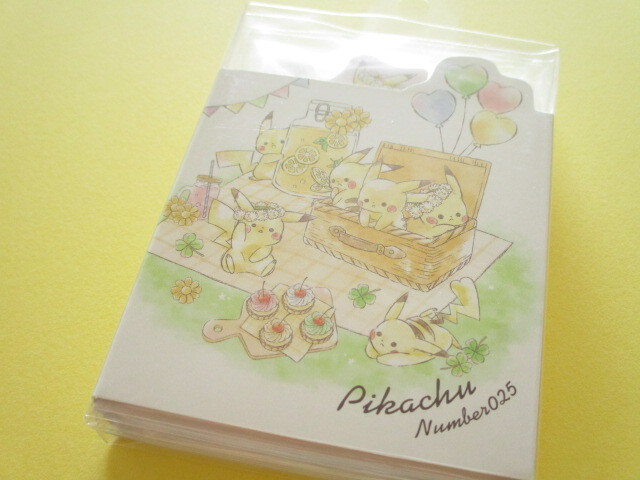 Photo1: Kawaii Cute Patapata Pikachu Mini Memo Pad Cute Model *Picnic (18717)