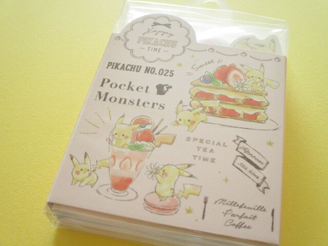 Photo1: Kawaii Cute Patapata Pikachu Mini Memo Pad Cute Model *Sweets (18718)