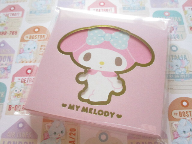 Photo1: Kawaii Cute Square Memo Pad Sanrio Origimal *My Melody (41031-4)
