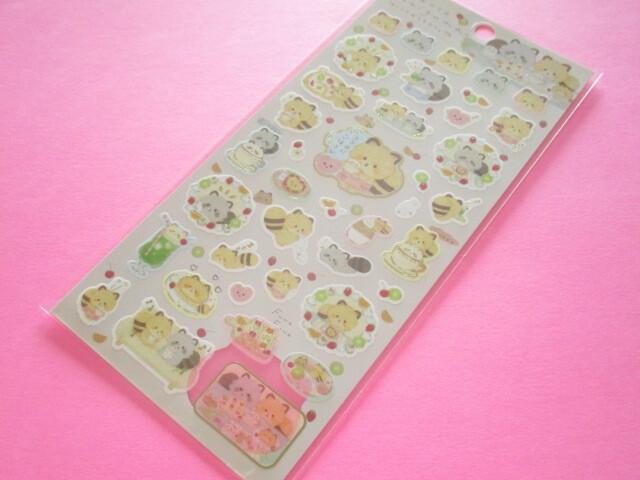 Photo1: Kawaii Cute Sticker Sheet Kokoroaraiguma San-x *Enjoy Tea at Home (SE50402)