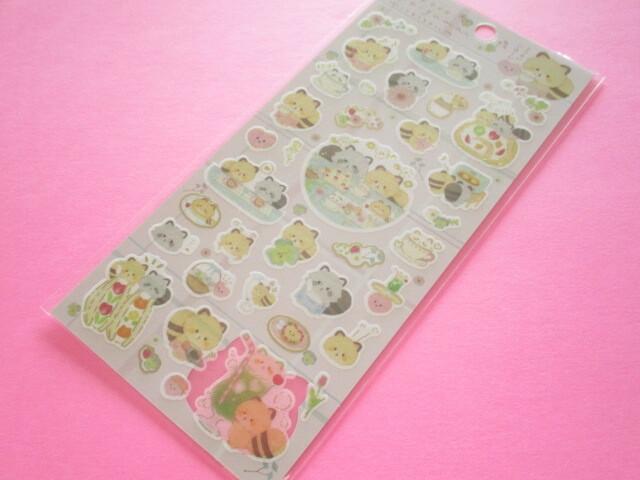 Photo1: Kawaii Cute Sticker Sheet Kokoroaraiguma San-x *Enjoy Tea at Home (SE50401)