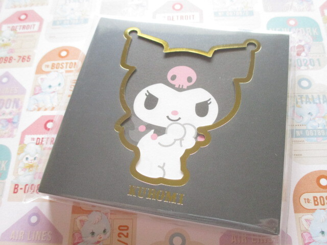 Photo1: Kawaii Cute Square Memo Pad Sanrio Origimal *Kuromi  (41047-1)