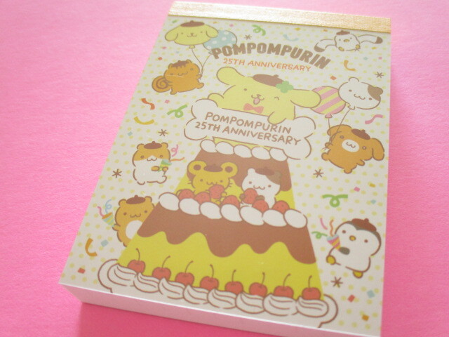 Photo1: Kawaii Cute Mini Memo Pad POMPOMPURIN Sanrio *Celebration (S2830744)