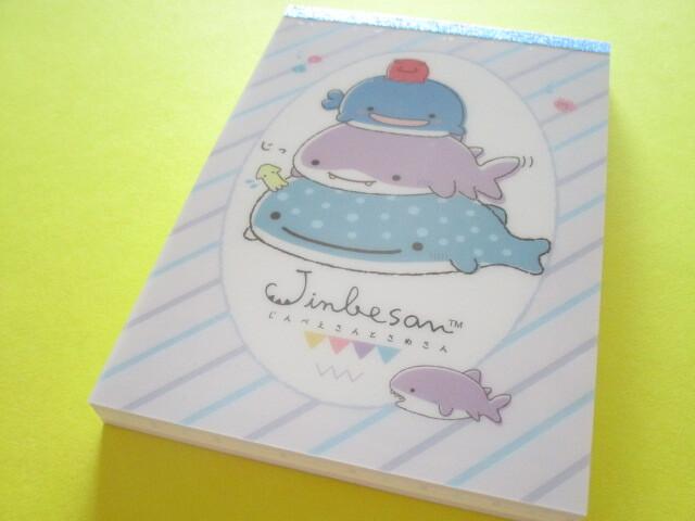 Photo1: Kawaii Cute Large Memo Pad Jinbesan San-x *Feel the Sea at Home (MH04602)