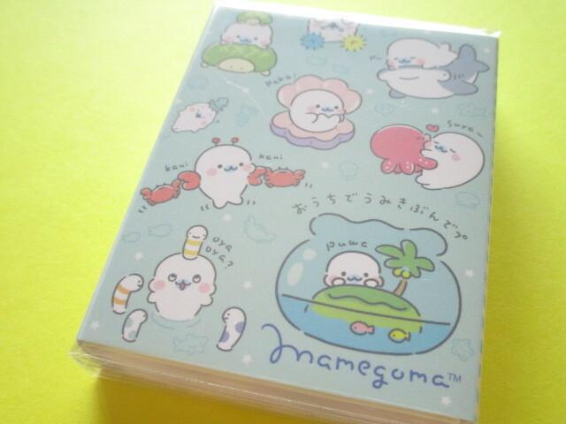 Photo1: Kawaii Cute Patapata Mini Memo Pad San-x Mamegoma *Feel the Sea at Home (MH04802)