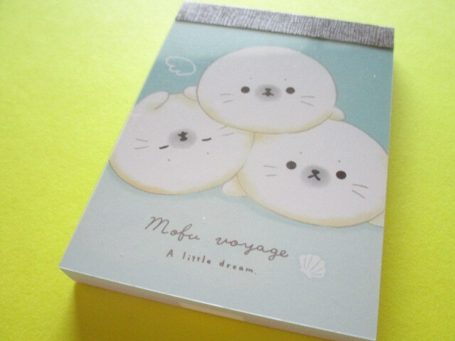 Photo1: Kawaii Cute Mini Memo Pad Crux *Mofu Voyage (100958)