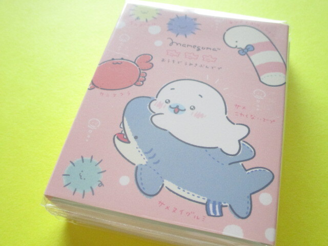 Photo1: Kawaii Cute Patapata Mini Memo Pad San-x Mamegoma *Feel the Sea at Home (MH04801)