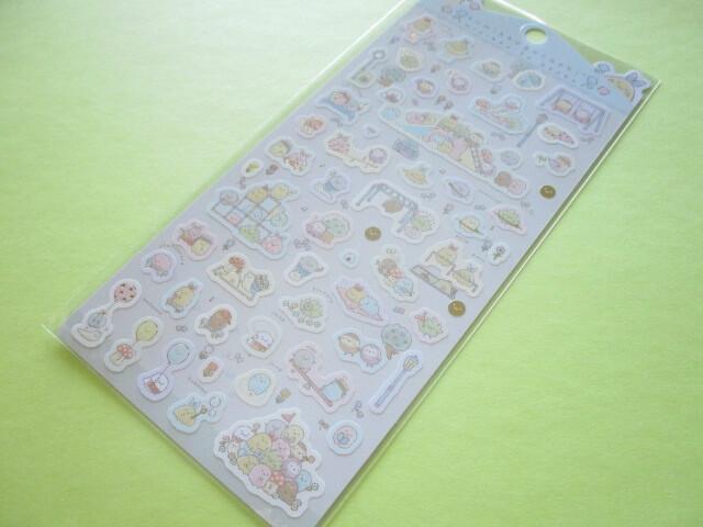 Photo1: Kawaii Cute Stickers Sheet Sumikkogurashi San-x *minikko to asobo (SE50301)