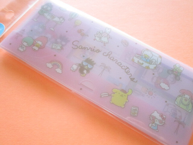 Photo1: Kawaii Cute Mini Sticky Notes  with Plastic Case Sanrio *Sanrio Characters (S2825325)