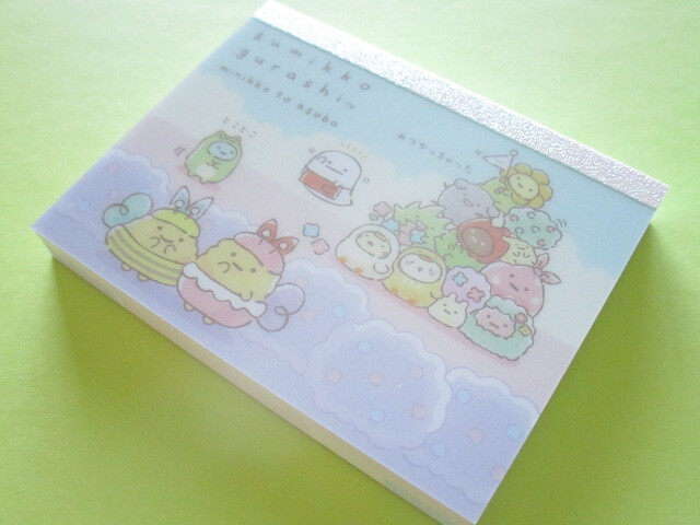 Photo1: Kawaii Cute Mini Memo Pad Sumikkogurashi San-x *minikko to asobo (MH04301-1)