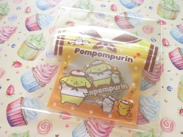 Photo1: Kawaii Cute T-shirt Summer Sticker Flakes Sack Sanrio Original *POMPOMPURIN (60770-3)