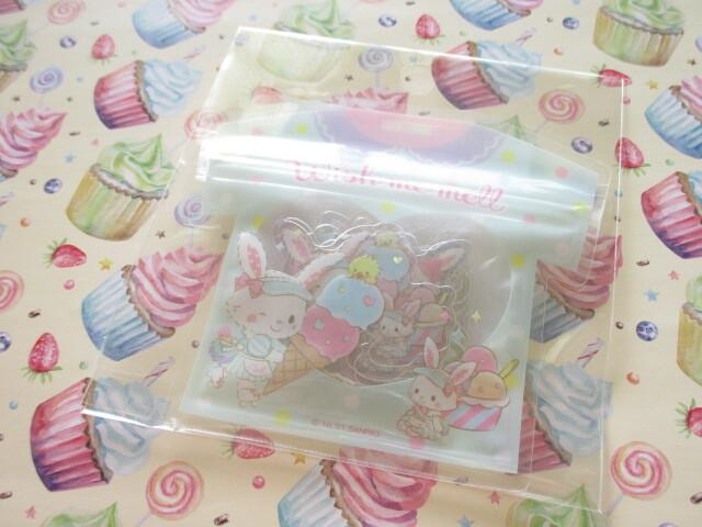Photo1: Kawaii Cute T-shirt Summer Sticker Flakes Sack Sanrio Original *Wish me mell (60823-8)