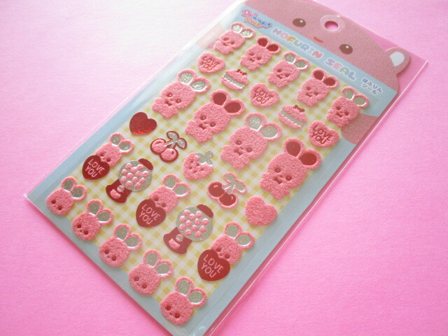 Photo1: Kawaii Cute Mofurin Stickers Sheet Lemon Co. (887268-02)